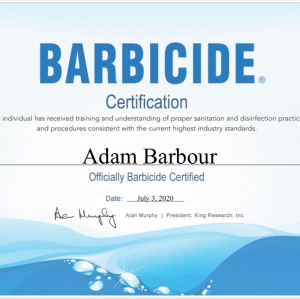 BARBICIDE CERTIFIED