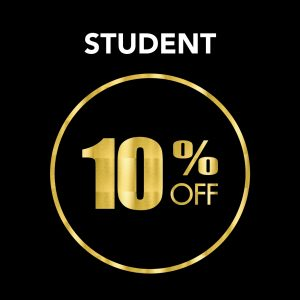 Student Discount 10% Off